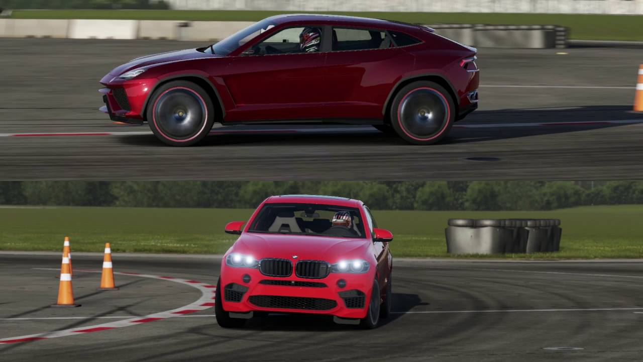 Lamborghini Urus vs BMW X6 M on Top Gear Track - YouTube Lamborghini Vs Bmw