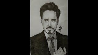 Drawing Tony Stark THE BRAIN