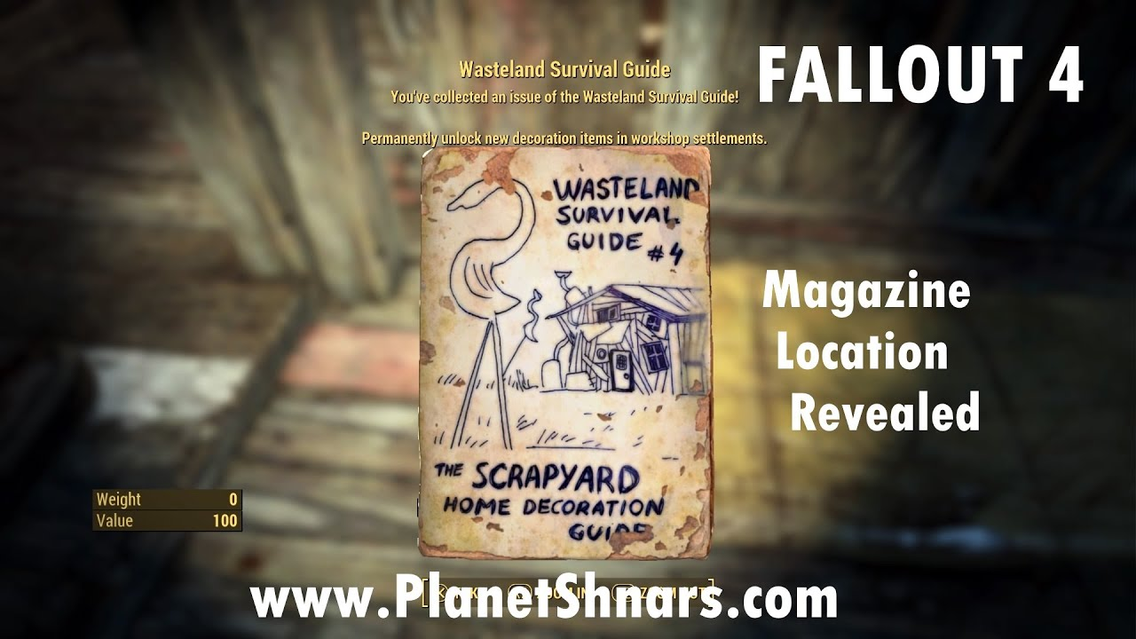 Captivating Wasteland Survival Guide #4   The Scrapyard Home Decoration Guide   Lynn  Woods   Fallout 4
