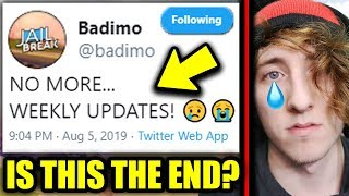 NO MORE WEEKLY JAILBREAK UPDATES... (The End Of Roblox Jailbreak?)
