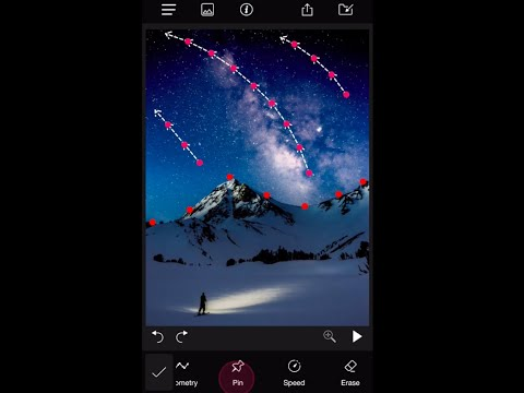 How to apply motion effects in still photos using Pixamotion App for iOS