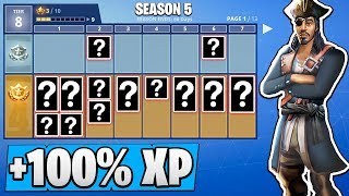 'NEW' Fortnite Battle Pass Release Time! 100% XP Weekend ( Saison 5 )