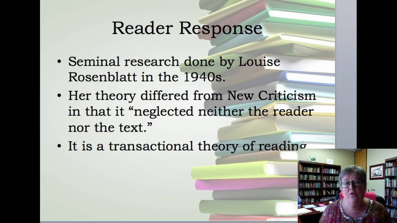 readers response theory Reader response criticism is a literary theory that emphasizes the relationship between a text and a reader in reader response.