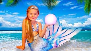 Diana turned into a Little Mermaid Princess