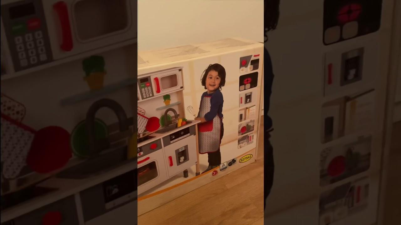 Unboxing Montage Cuisine En Bois Enfant Lidl Noel 2019 Youtube