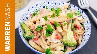 DELICIOUS White Sauce Pasta Recipe - EASY traditional Italian Recipes by Warren Nash