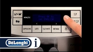 How to use the De'Longhi PrimaDonna S DeLux ECAM 28.465 AU Coffee Machine for the first time