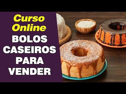 Receitas de BOLOS CASEIROS para vender (Curso Online + Apostila)