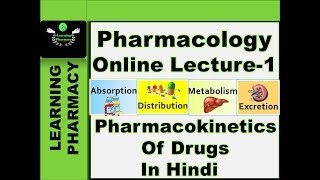 Pharmacology CH-1 | Pharmacokinetics/ADME Of Drugs | Pharmacy Online Lecture