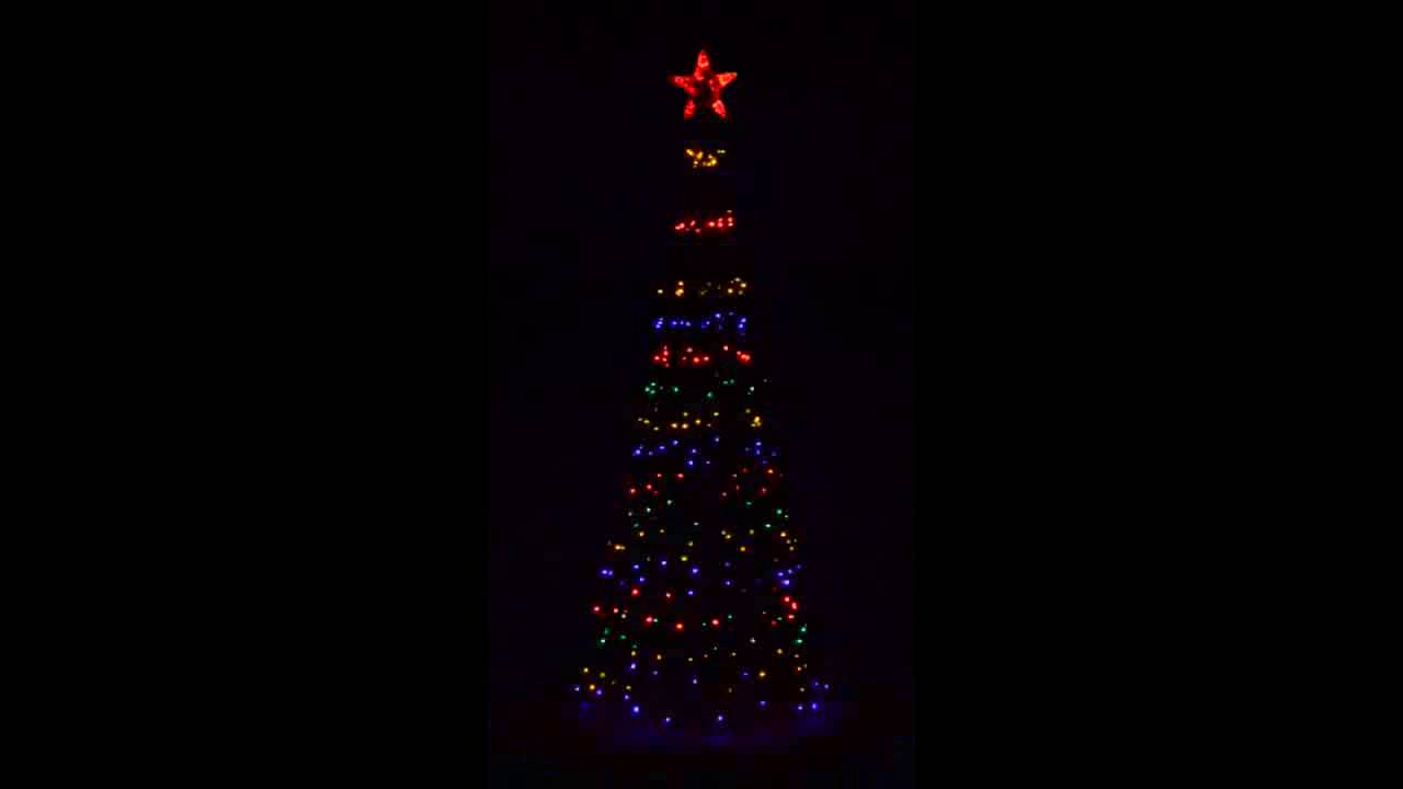giant multi colour led christmas tree 2 2m fl 360lc
