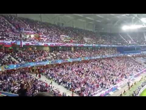 Russia vs Slovakia, Slovak fans !!