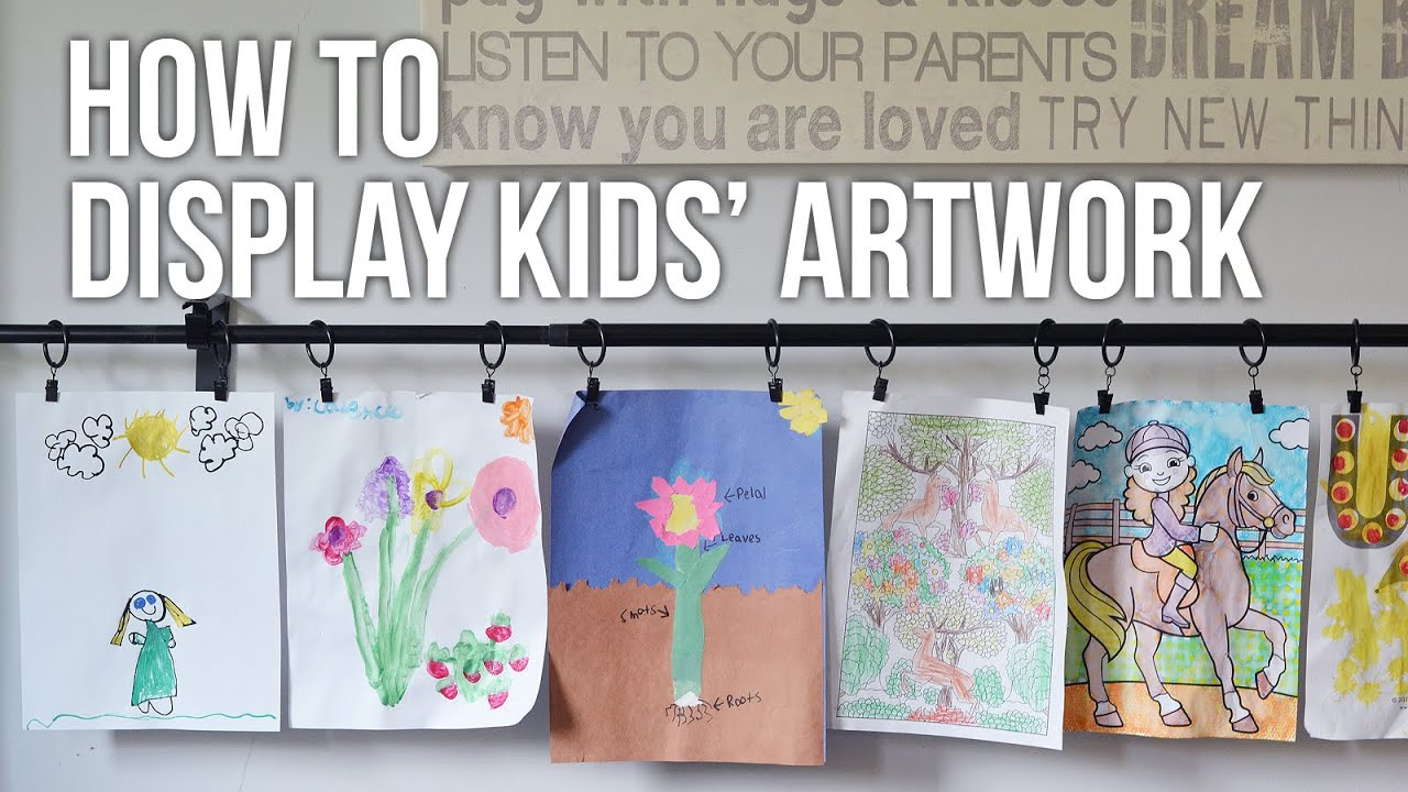 Childrens Artwork Display Tip Tuesday How To Display Kids Artwork Youtube