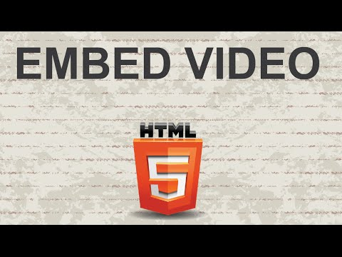 How To Embed Video HTML
