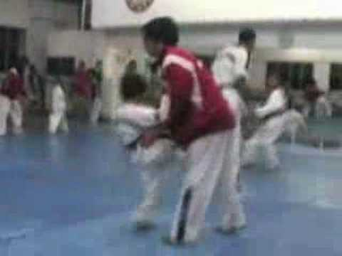 Training With National TKD Team