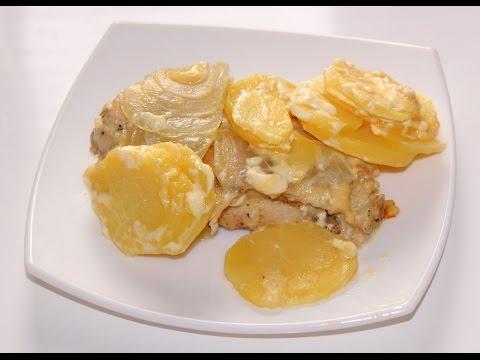 Картошка с куриным филе с майонезом в мультиварке