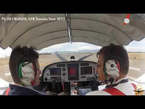 |3rd Leg| Cagliari-Tabarka, The first intercontinental flight of PS28 Cruiser.