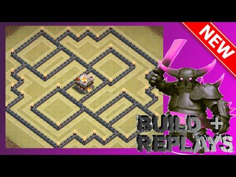 BEST New Th11 War Base! [Build + Replays] | The Spectre | Anti-Mass Golem, Gowiwi & Queen Walk