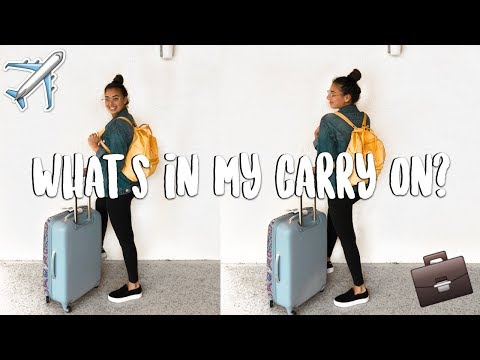 WHAT'S IN MY CARRY ON? + Travel Essentials 2018