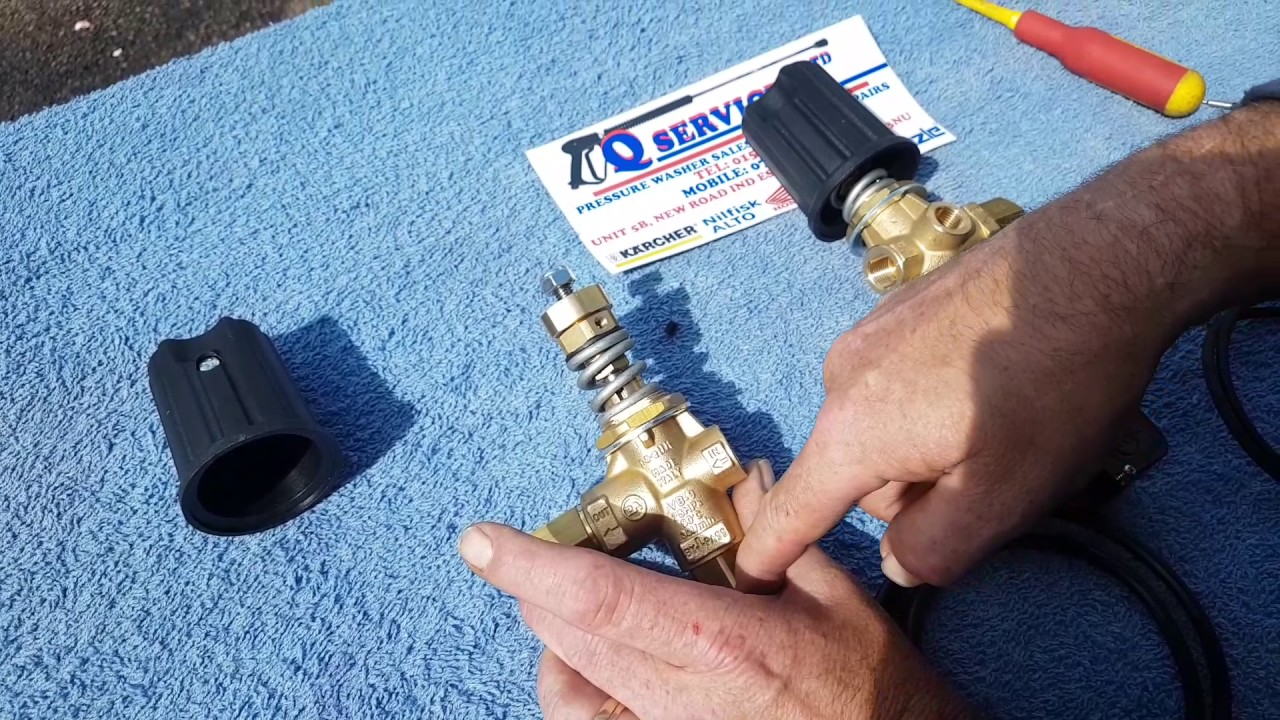 QWASHERS YOUTUBE HOW TO SETUP REPAIR FAULT FIND PA 60 2250 00 VB9 UNLOADER  VALVE PRESSURE WASHER