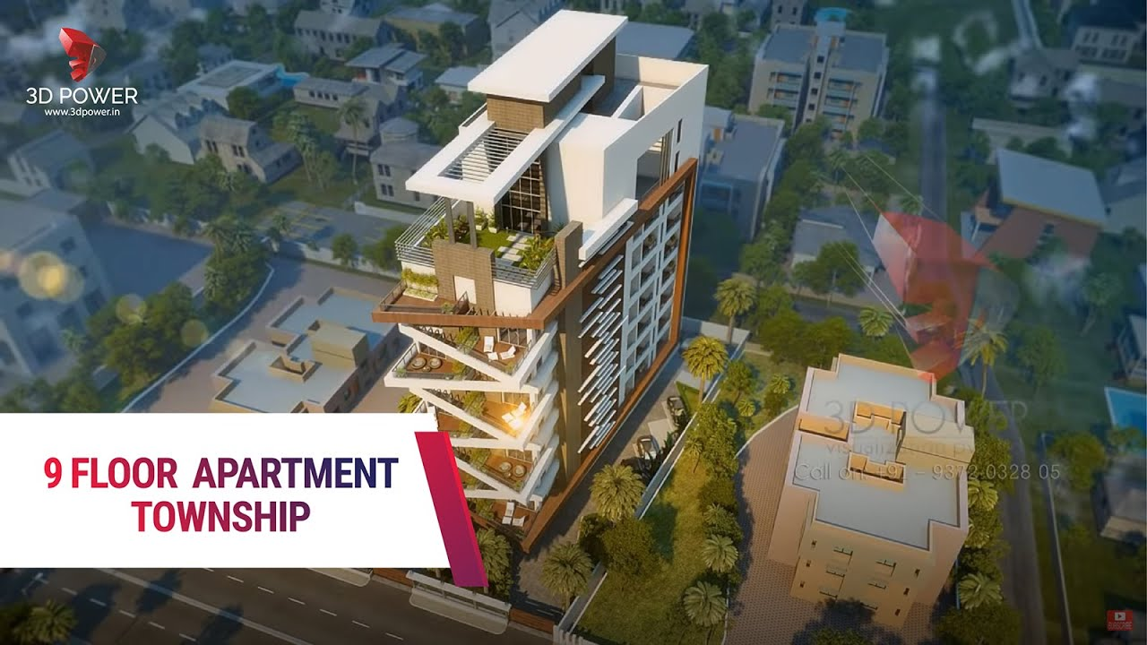 High Rise Apartment Design Exterior highrise apartment 3d walkthrough - youtube