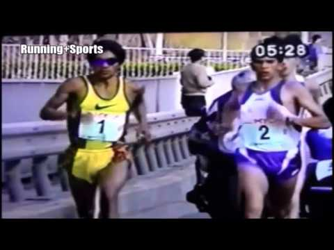 Herder Vásquez (1:01:29) media maratón Kyoto 1996 - Récord nacional