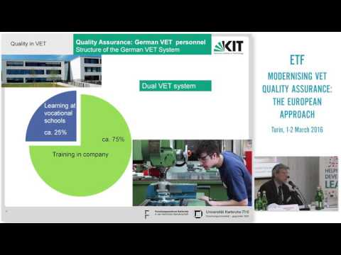 Quality assurance and vocational teachers and trainers - the case of Germany