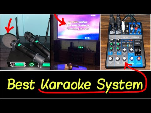 ✅Best Karaoke System For Home Party | Wireless Microphones | Mixer | Free Songs For Multiple Singers