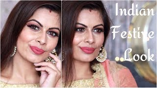 Karwachauth Makeup Look 2017 | Diwali Look | Indian Festive Look | Kavya K