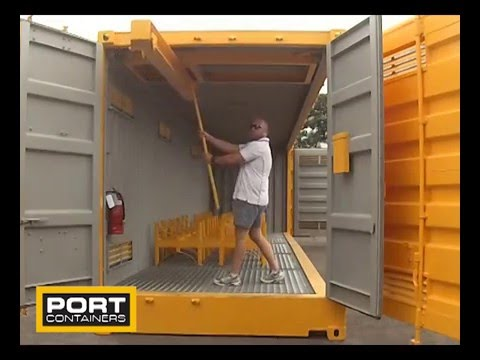 40ft Dangerous Goods Storage Container with Gantry YouTube
