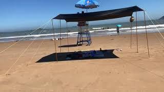 블랙 코팅 야외 캠핑 타프 스크린 텐트 방수 차박