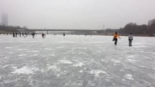 Wien, Neue Donau, zugefroren