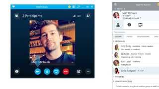 Making a video call with Skype for Business