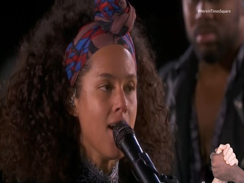 Alicia Keys - No One - Live On Times Square New York Mit Deutschen Und Englischen  Songtext
