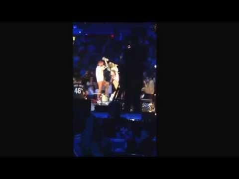 Miley Cyrus twerking on Lily Allen St Louis Bangerz Tour