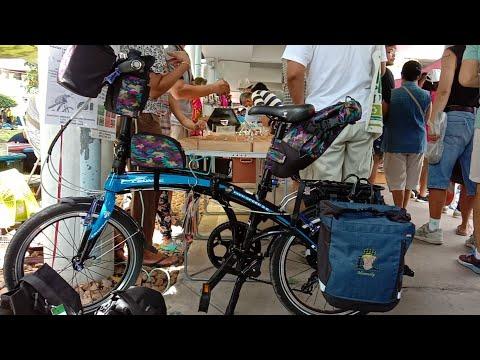 เดินตลาดนัดจักรยานTOT นักปั่นจักรยาน อุปกรณ์ ตกแต่ง จักรยาน กระเป๋าจักรยานทัวร์ริ่ง กระเป๋าออกแบบเอง