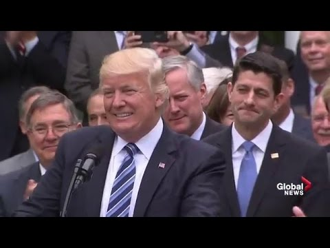 Donald Trump 'brags' about healthcare victory and defeat of Obamacare