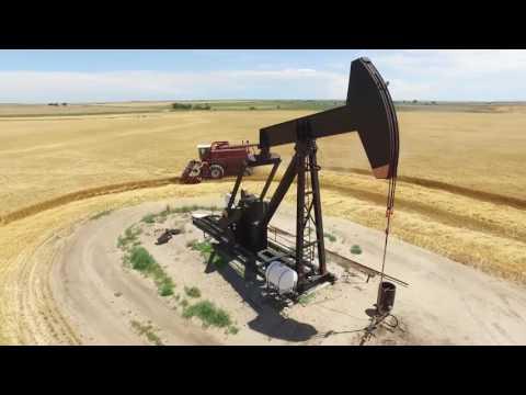 Drone Captures Kansas Harvest