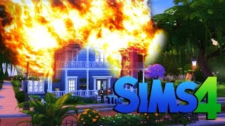 THE ROOF IS ON FIRE!!! | The Sims 4 - Part 3
