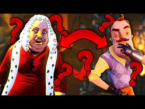IS THIS GUY HELLO NEIGHBOR'S LONG LOST GREAT GRANDPA!? + HE HAS A PET DRAGON!? | Goodbye My King