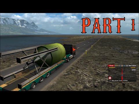Euro Truck Simulator 2 - Reykjavik to Höfn Part 1 Iceland