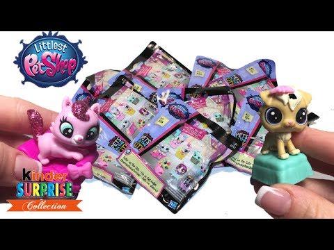 Видео, МНОГО сюрпризов LPS Обзор игрушек и КОНКУРС на повторки от Kinder Surprise Collection