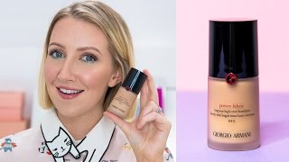 HOLY GRAIL FOR OILY SKIN? Armani Power Fabric Foundation FIRST IMPRESSION REVIEW