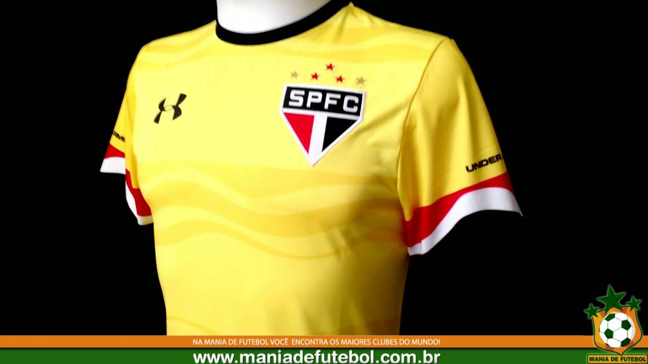 4a8ac2fc74 Camisa 3 SPFC 2016 Oficial Under Armour Amarela - YouTube