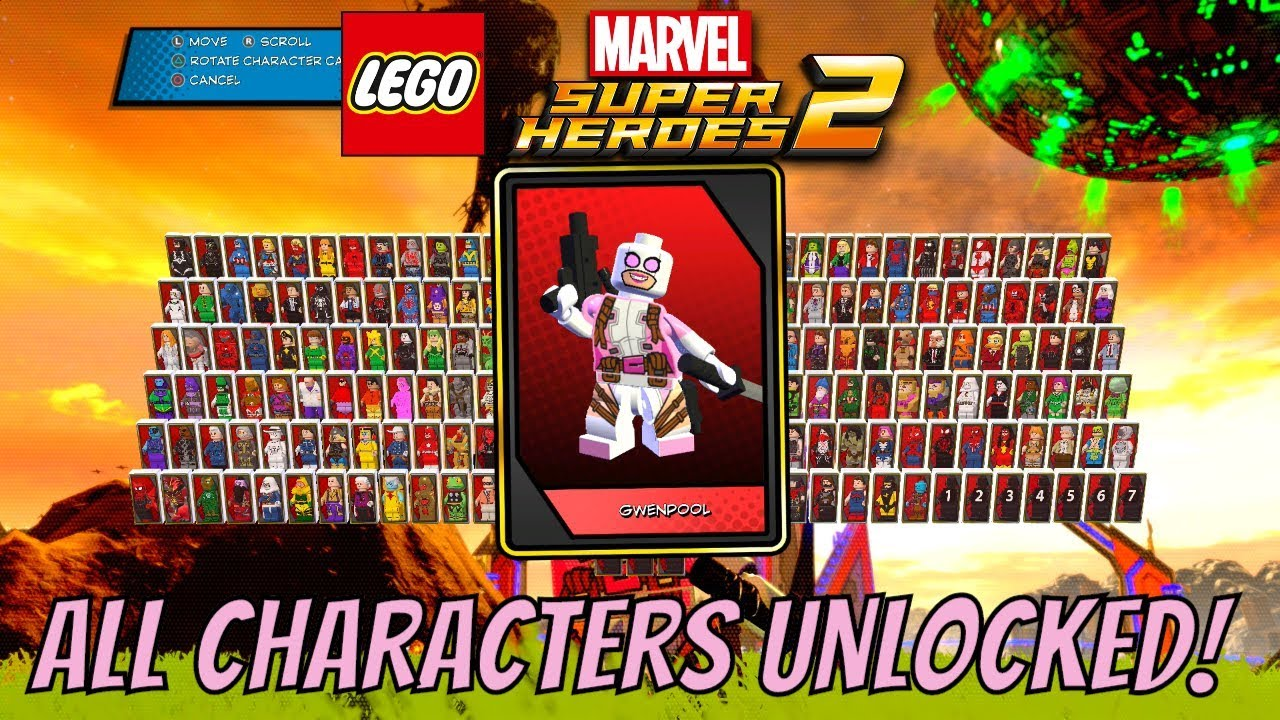 lego marvel super heroes 2 all characters unlocked with