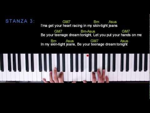 Teenage Dream - GLEE Acoustic Version Piano Tutorial