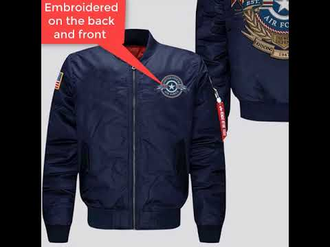 U.S AIR FORCE EMBROIDERED JACKET, THIS WE'LL DEFEND, DEFENDING FREEDOM