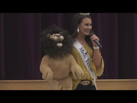 Miss Texas visits Wylie Middle School