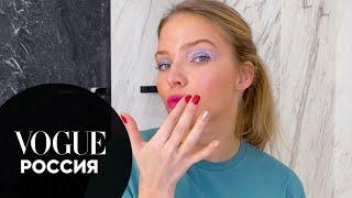 Саша Лусс показывает праздничный макияж с блестками для новогодней ночи Новогодний выпуск