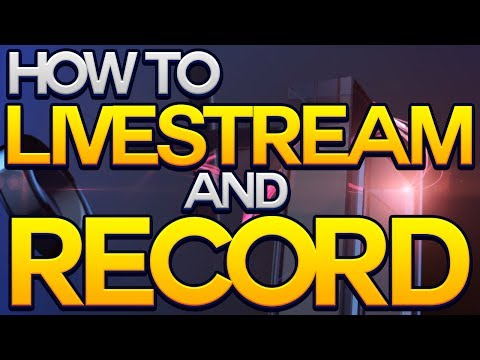How to Livestream and Record on the Playstation 4 (PS4 Upload Share Video Built In Capture Card)