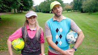 Mas i Ware - Golff Traed rhan 2 | Stwnsh Sadwrn | S4C
